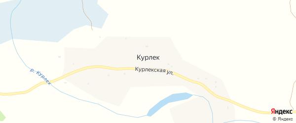 Курлекская улица на карте поселка Курлека с номерами домов