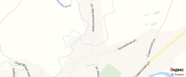 Улица Механизаторов на карте села Карабинка с номерами домов