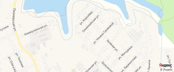 Больничный переулок на карте Березовского с номерами домов