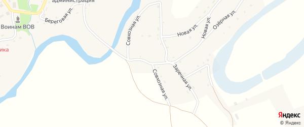 Совхозная улица на карте села Карабинка с номерами домов