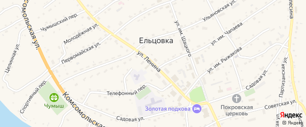 Улица им Ленина на карте села Ельцовки с номерами домов