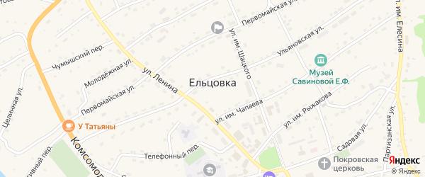 Коммунальный переулок на карте села Ельцовки с номерами домов