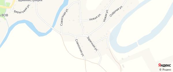Заречная улица на карте села Карабинка с номерами домов