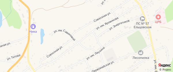 Улица им Яровикова на карте села Ельцовки с номерами домов