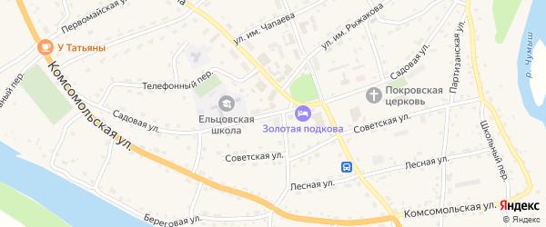 Садовая улица на карте села Ельцовки с номерами домов