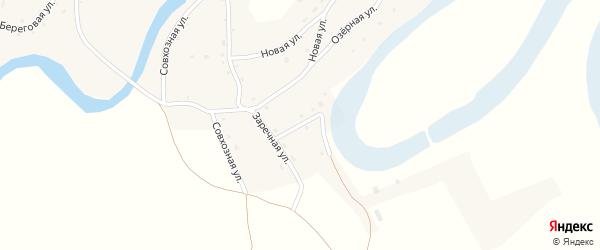Заречный переулок на карте села Карабинка с номерами домов
