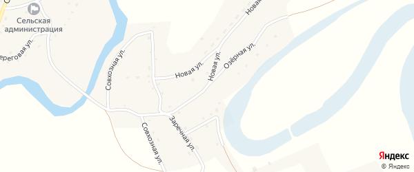 Озерная улица на карте села Карабинка с номерами домов
