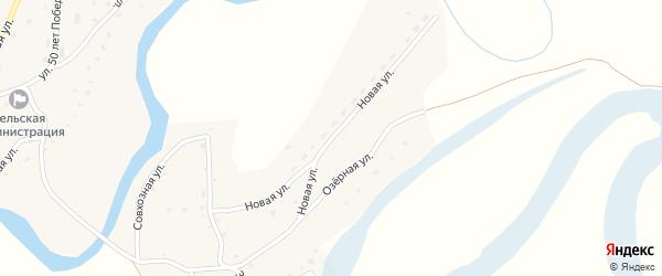 Новая улица на карте села Карабинка с номерами домов