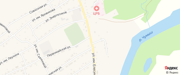 Улица им Елесина на карте села Ельцовки с номерами домов