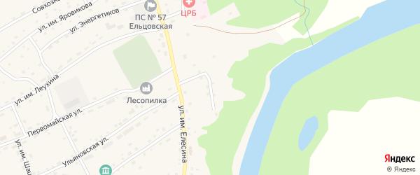 Переулок им Гагарина на карте села Ельцовки с номерами домов