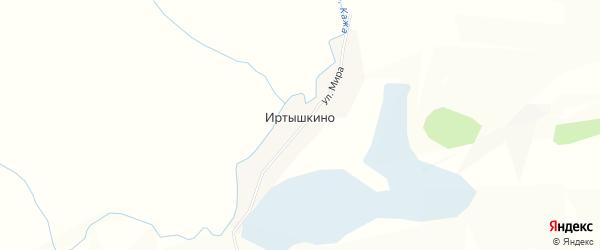 Карта поселка Иртышкино в Алтайском крае с улицами и номерами домов