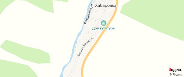 Центральная улица на карте села Хабаровки с номерами домов