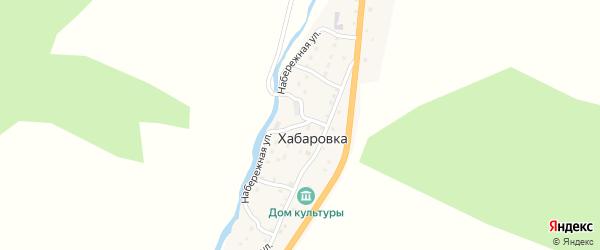 Набережная улица на карте села Хабаровки с номерами домов