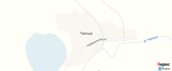 Набережная улица на карте поселка Чапши с номерами домов