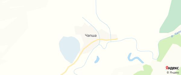 Карта поселка Чапши в Алтайском крае с улицами и номерами домов