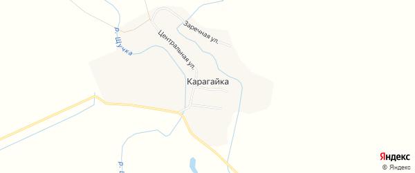 Карта поселка Карагайки в Алтайском крае с улицами и номерами домов