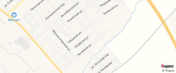 Азовская улица на карте Полысаево с номерами домов