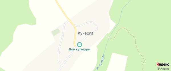 Береговая улица на карте поселка Кучерлы с номерами домов