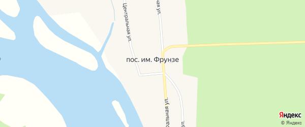 Центральная улица на карте поселка Им Фрунзе с номерами домов