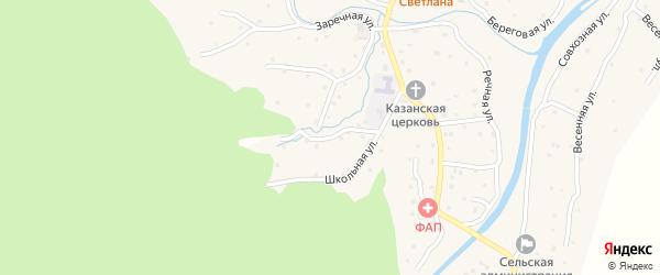 Школьный переулок на карте села Паспаула с номерами домов