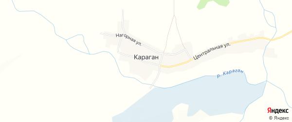 Карта села Карагана в Алтайском крае с улицами и номерами домов