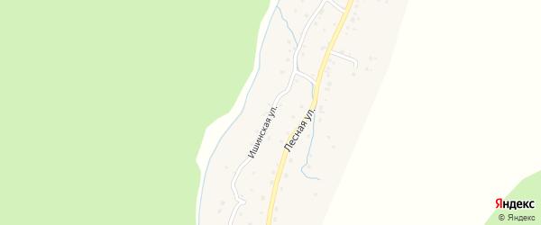 Ишинская улица на карте села Паспаула с номерами домов