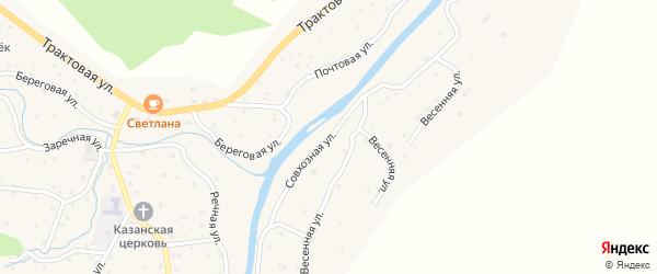 Совхозная улица на карте села Паспаула с номерами домов