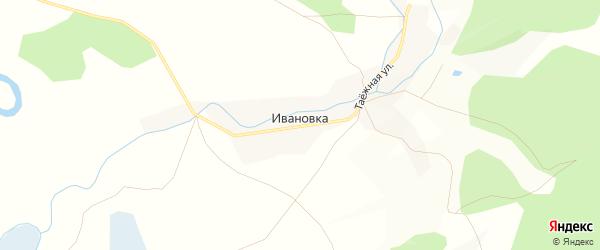 Карта поселка Ивановки в Алтайском крае с улицами и номерами домов