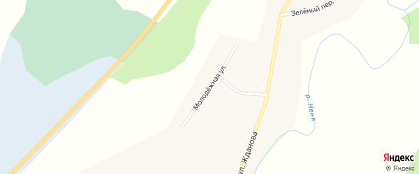 Молодежная улица на карте села Нижней Ненинки с номерами домов
