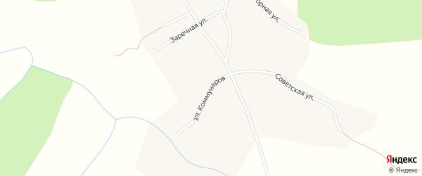 Улица Коммунаров на карте села Нижней Ненинки с номерами домов