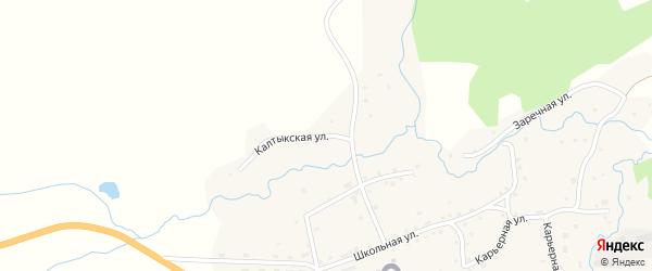 Калтыкская улица на карте села Пуштулима с номерами домов