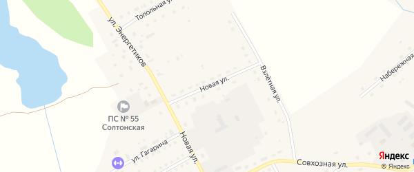 Новая улица на карте села Солтона с номерами домов