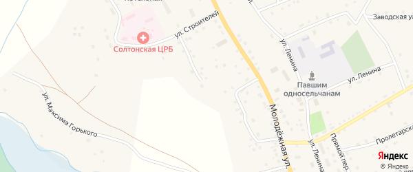 Первомайская улица на карте села Солтона с номерами домов