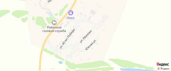 Улица Иванова на карте села Солтона с номерами домов