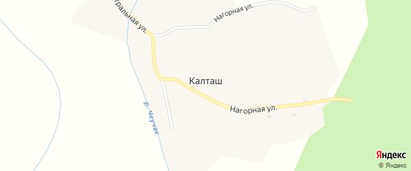 Центральная улица на карте села Калташа с номерами домов