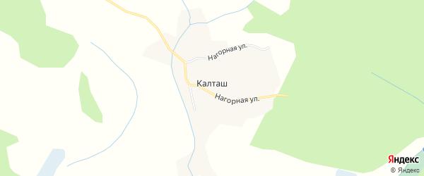 Карта села Калташа в Алтайском крае с улицами и номерами домов