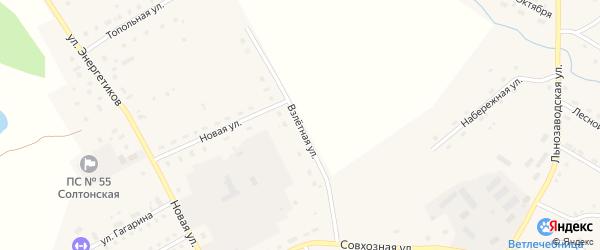 Взлетная улица на карте села Солтона с номерами домов
