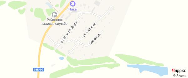 Южная улица на карте села Солтона с номерами домов