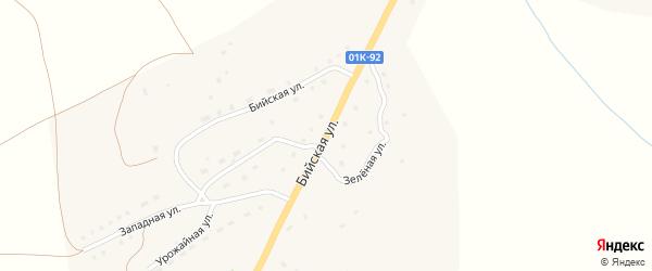 Бийская улица на карте села Солтона с номерами домов