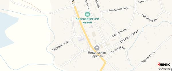 Молодежная улица на карте села Солтона с номерами домов