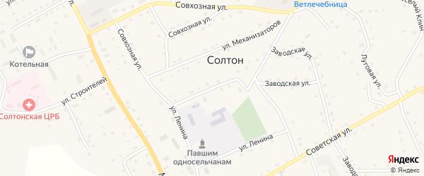 Улица Демьяна Бедного на карте села Солтона с номерами домов