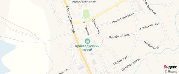 Улица Ленина на карте села Солтона с номерами домов