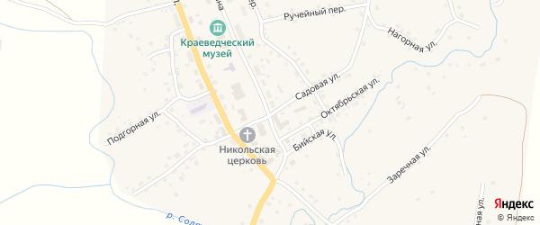 Садовая улица на карте села Солтона с номерами домов