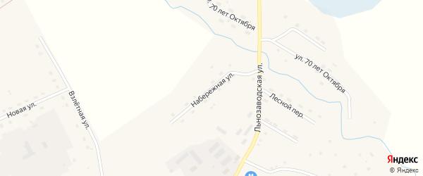 Набережная улица на карте села Солтона с номерами домов