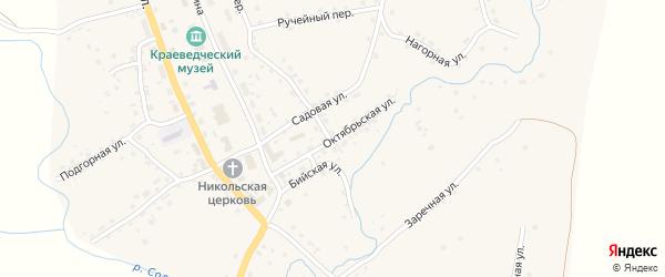 Октябрьская улица на карте села Солтона с номерами домов