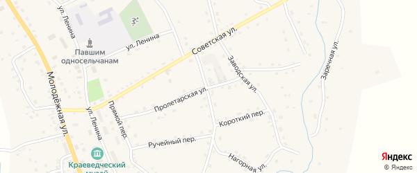 Пролетарская улица на карте села Солтона с номерами домов