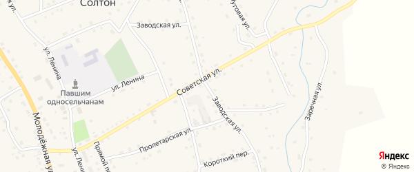 Заводская улица на карте села Солтона с номерами домов