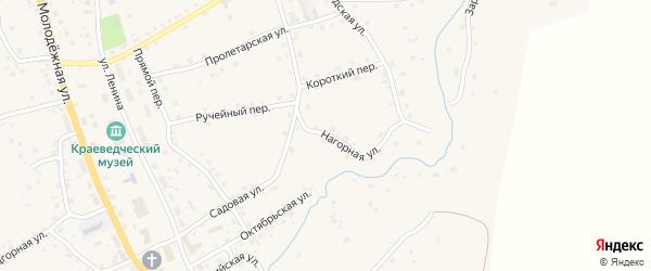 Нагорная улица на карте села Солтона с номерами домов