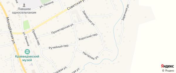 Короткий переулок на карте села Солтона с номерами домов