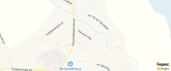 Лесной переулок на карте села Солтона с номерами домов
